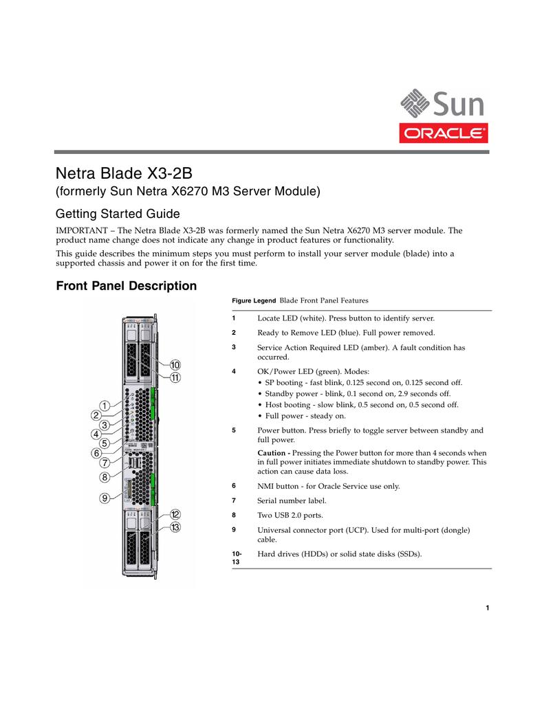 Netra Blade X3-2B (formerly Sun Netra X6270 M3 Server Module