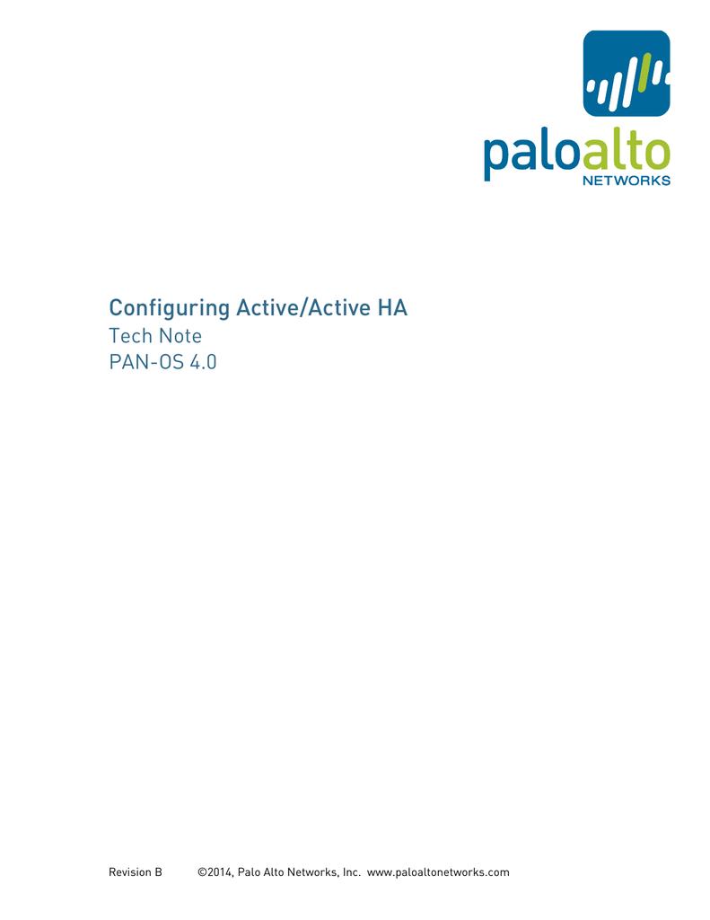 HA Active/Active - Palo Alto Live | manualzz com