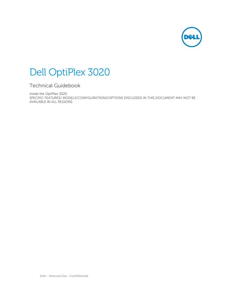 Dell OptiPlex 3020 - Dell PartnerDirect   manualzz com