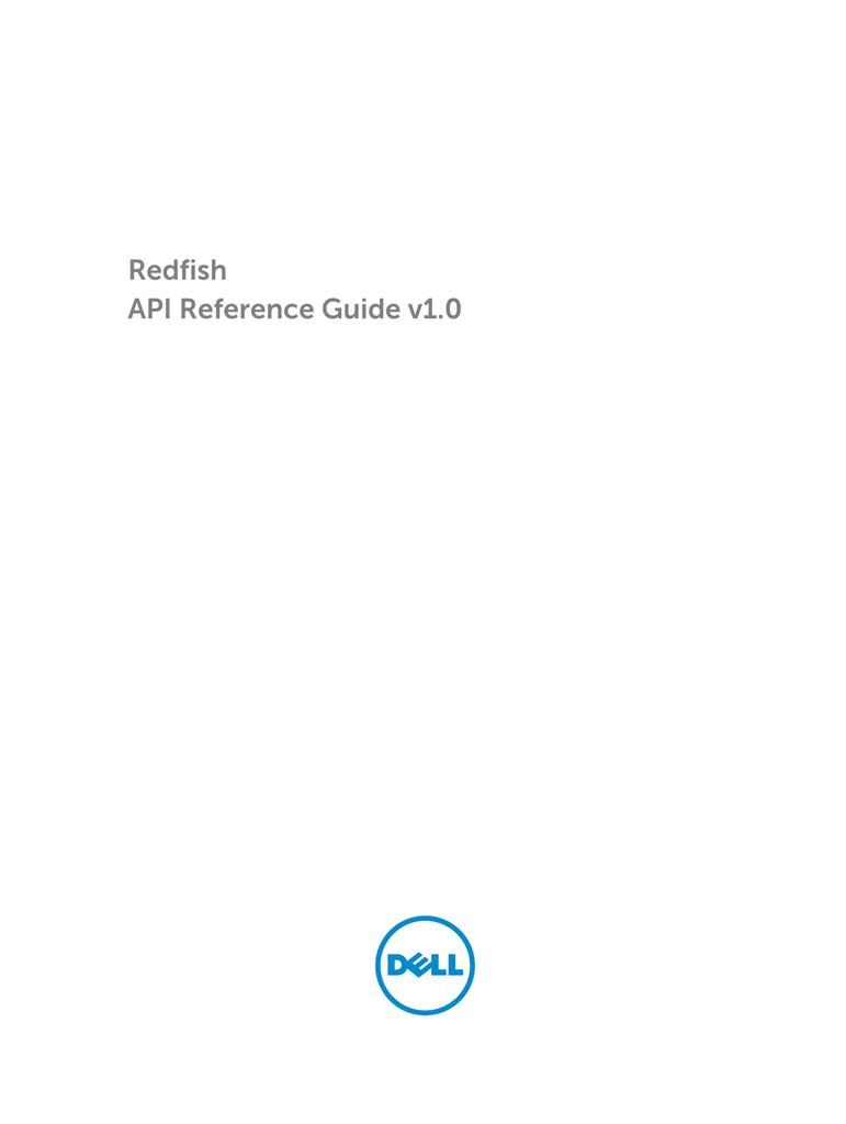 Redfish API Reference Guide v1 0 | manualzz com
