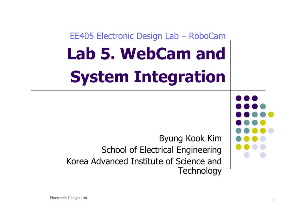 Lab 5  WebCam and System Integration | manualzz com
