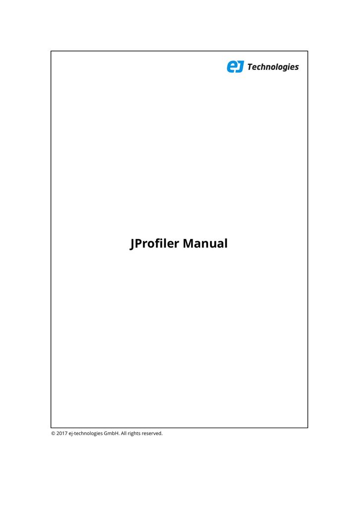 JProfiler Manual - ej | manualzz com