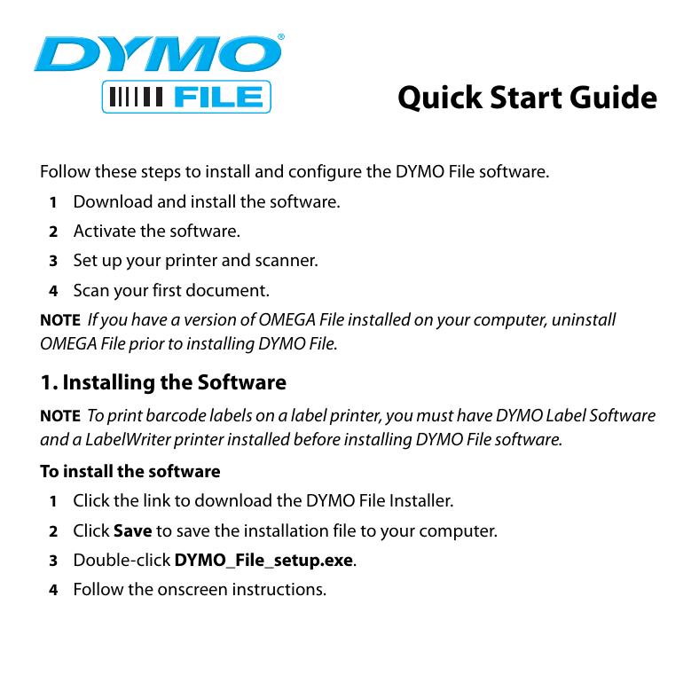 DYMO File_QSBookletUS_Download fm | manualzz com
