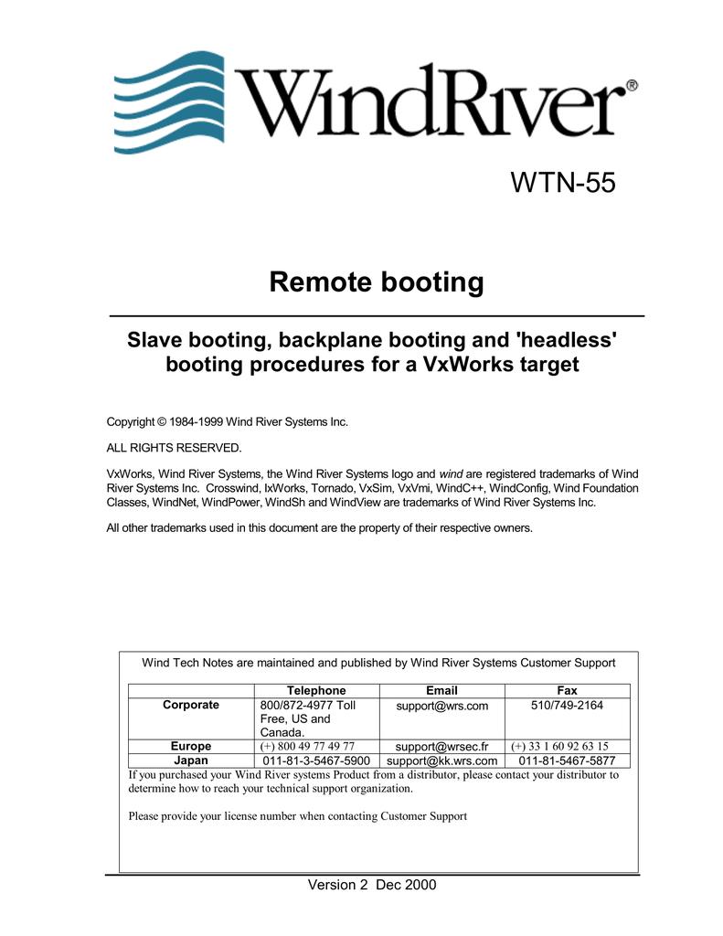Remote booting of vxWorks   manualzz com