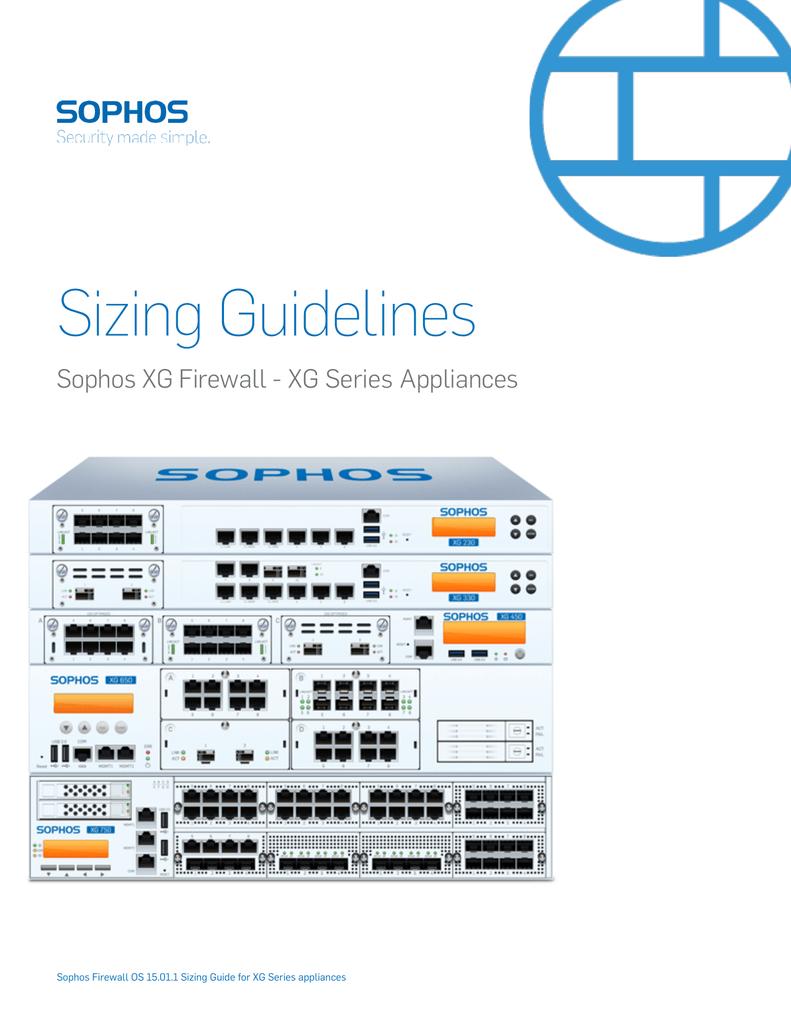 Sophos XG Series Sizing Guidelines | manualzz com