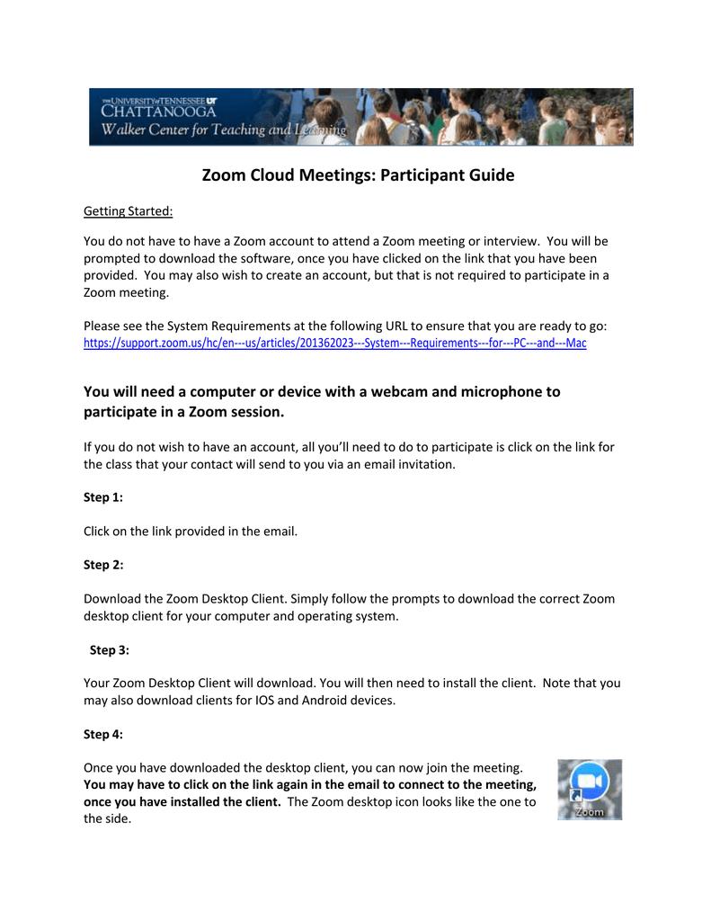 Zoom Cloud Meetings: Participant Guide | manualzz com