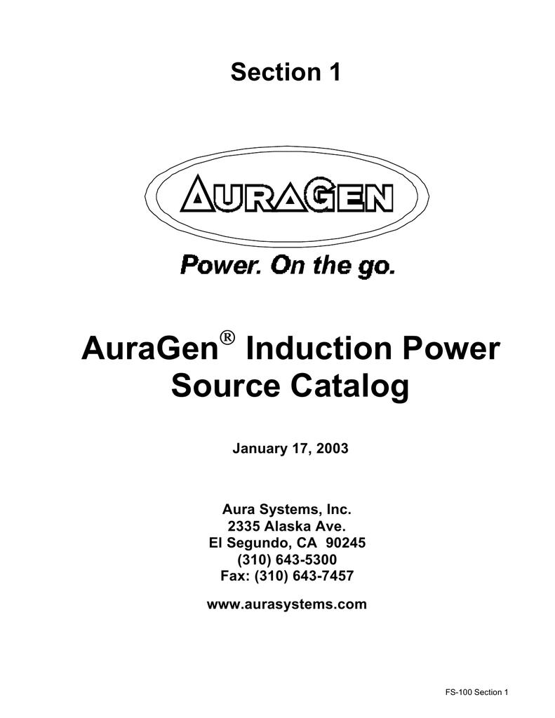 Auragen Induction Power Source Catalog Delco Remy 50dn Alternator Wiring Diagram
