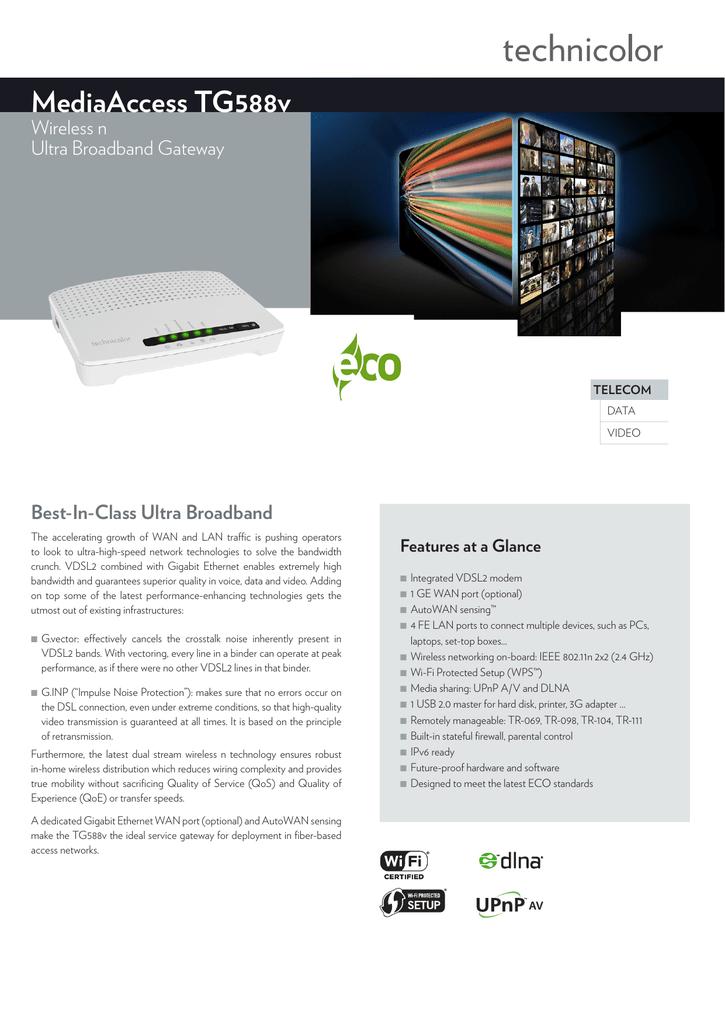 mediaAccess tG588v | manualzz com