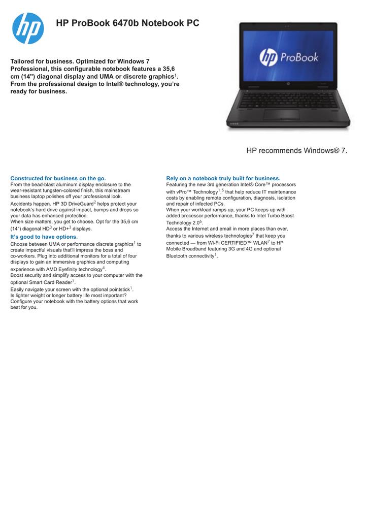 d47ddc3b304f HP ProBook 6470b Notebook PC | manualzz.com