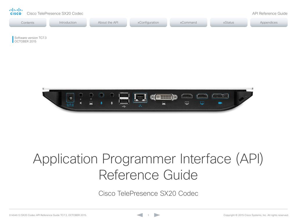 SX20 API Reference Guide | manualzz com