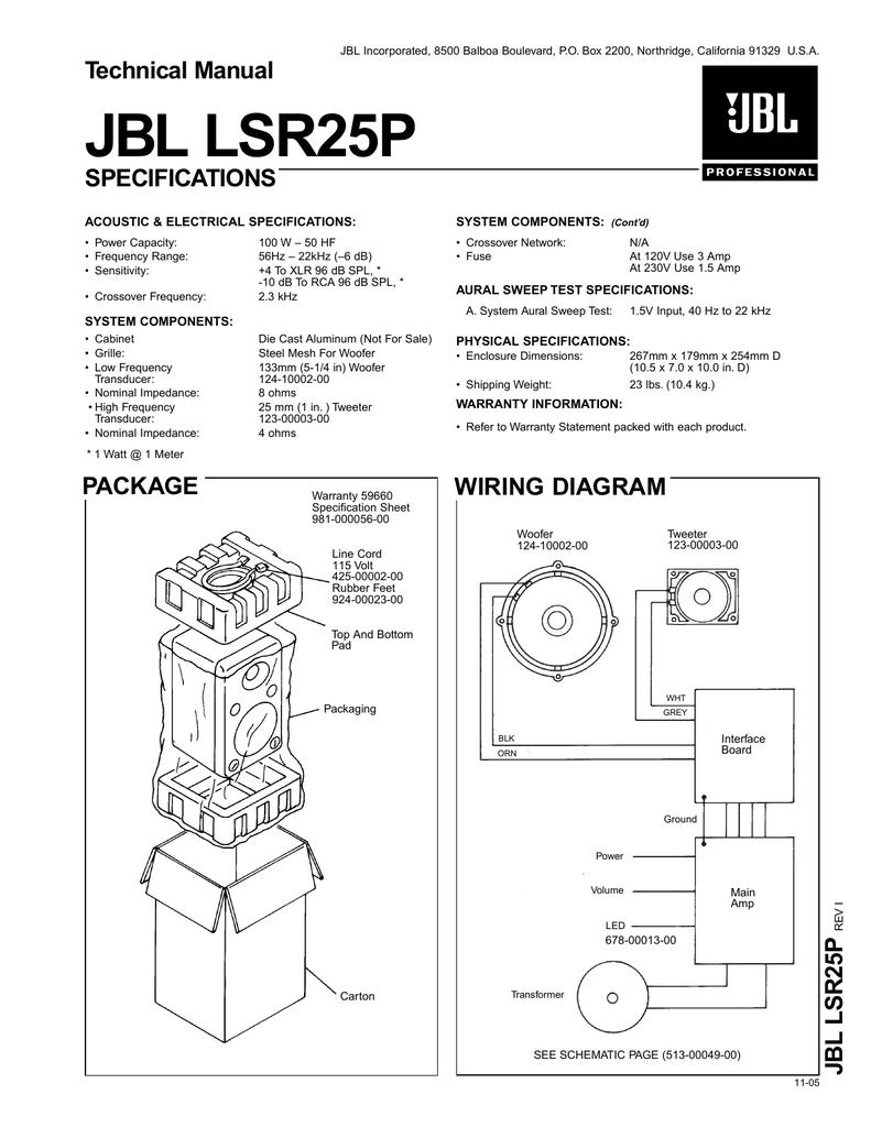 JBL LSR25P - JBL Pro Service | manualzz.com on