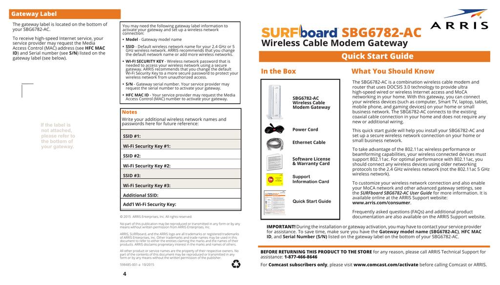 SBG6782-AC - DSLreports | manualzz com
