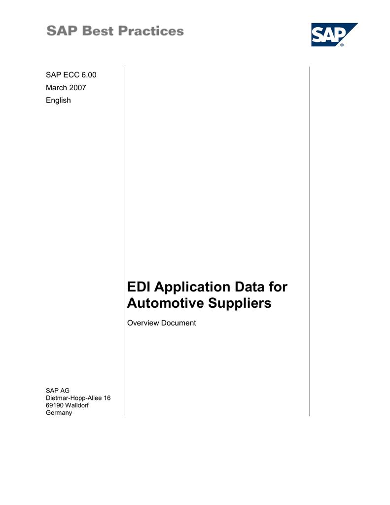 EDI Application Data for Automotive Suppliers | manualzz com