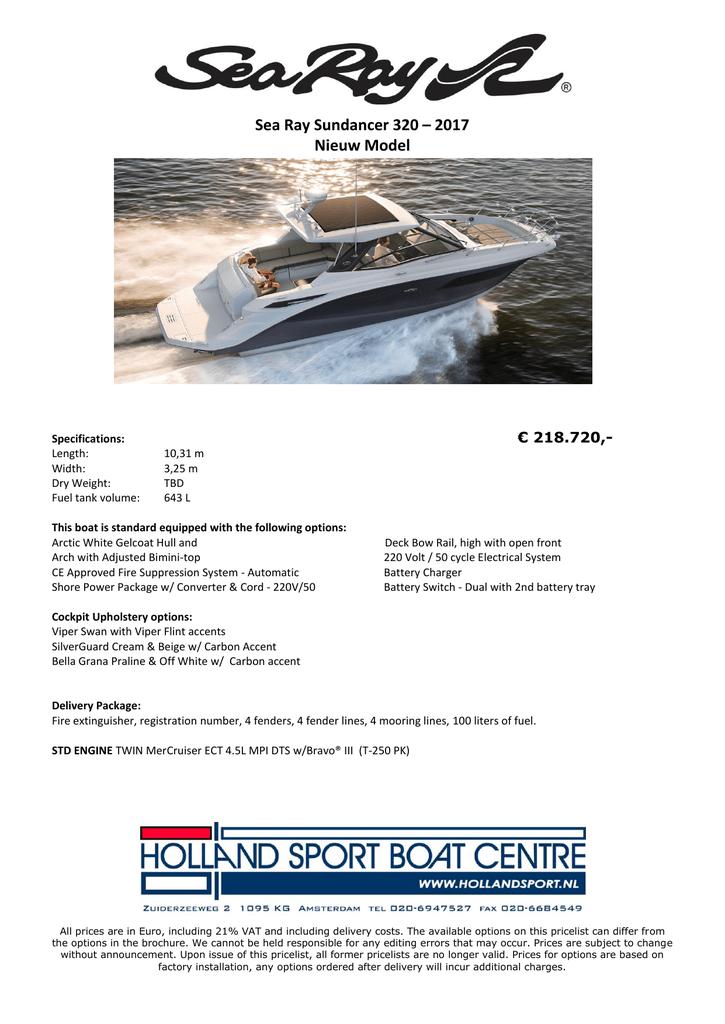 Sea Ray Sundancer 320 2017 Nieuw Model Manualzz Com