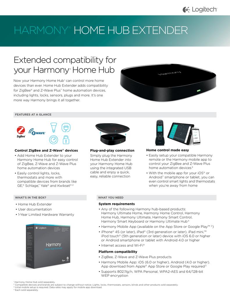 HARMONY® HOME HUB EXTENDER   manualzz com