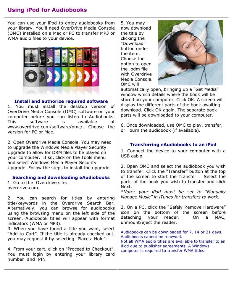 Using iPod for Audiobooks | manualzz com