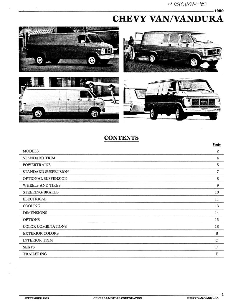 Chevy Van Vandura Gm Heritage Center Manualzz
