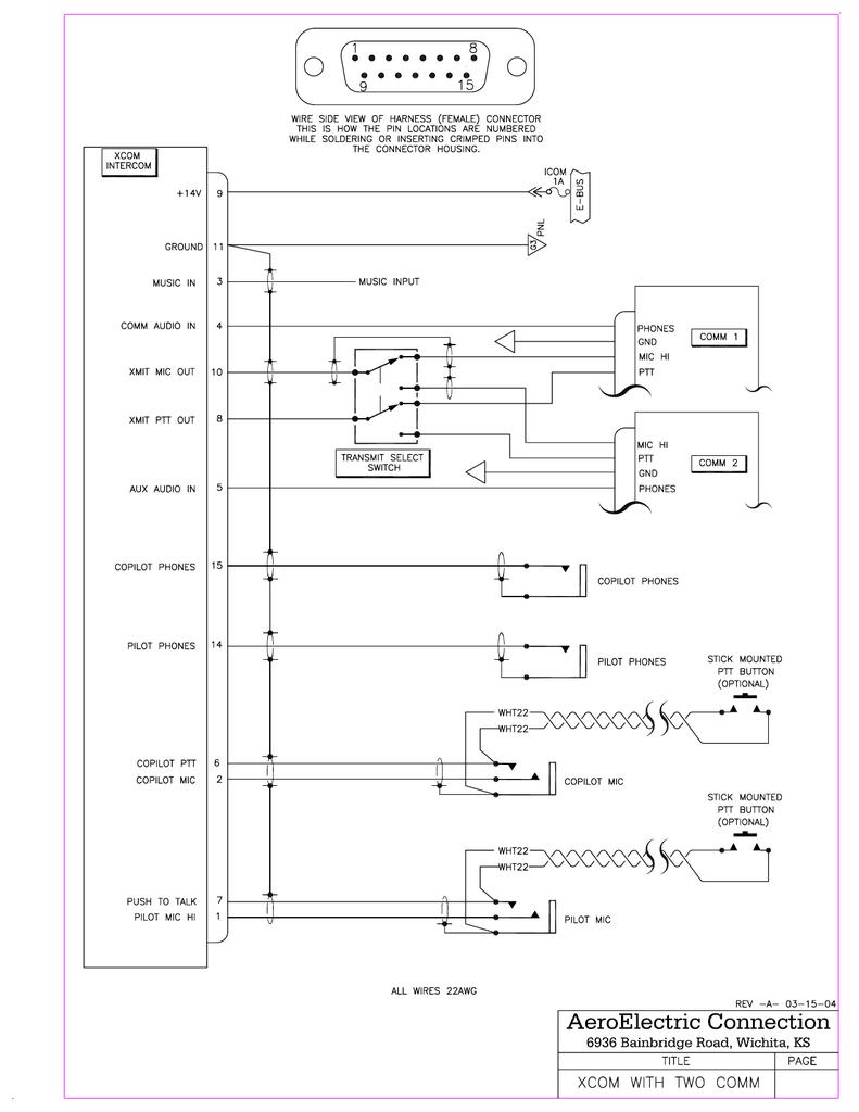 Xcom Wiring Model (1) - AeroElectric Connection | manualzz.com on