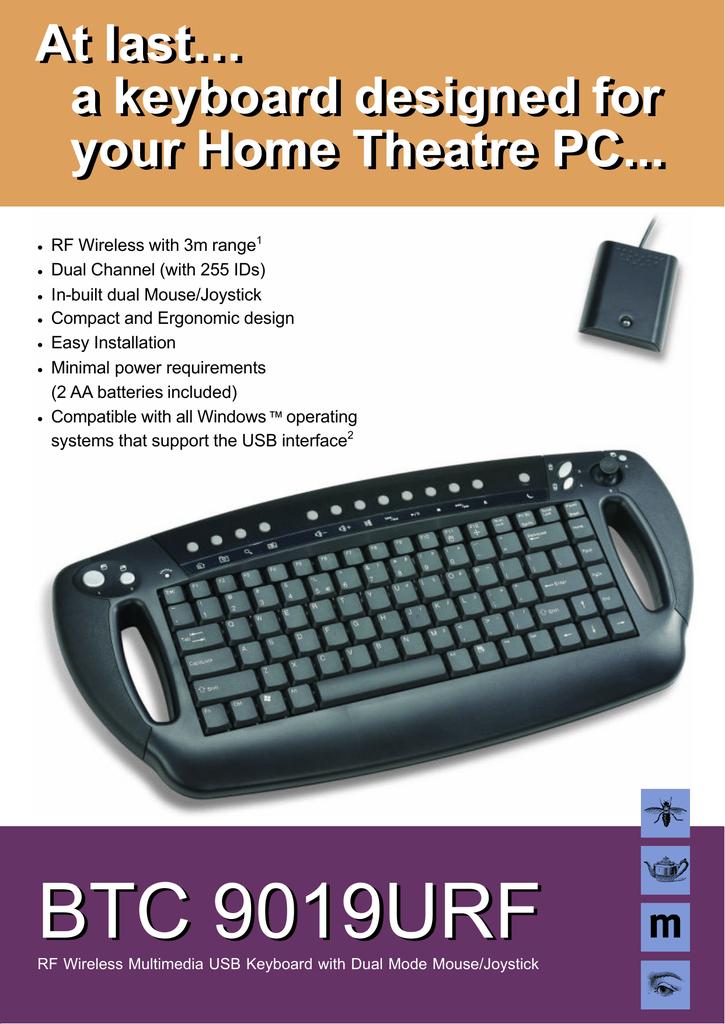 tastiera wireless btc 9019urf