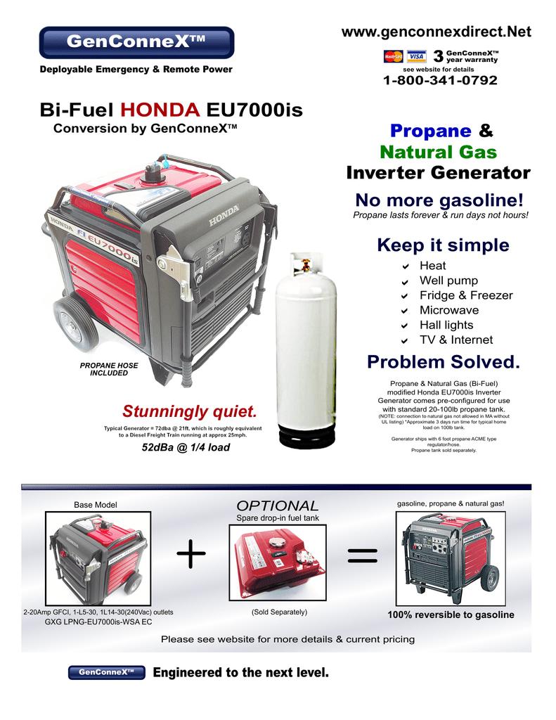 GenConneX Bi-Fuel Honda EU7000is ALL Brochures 2 0