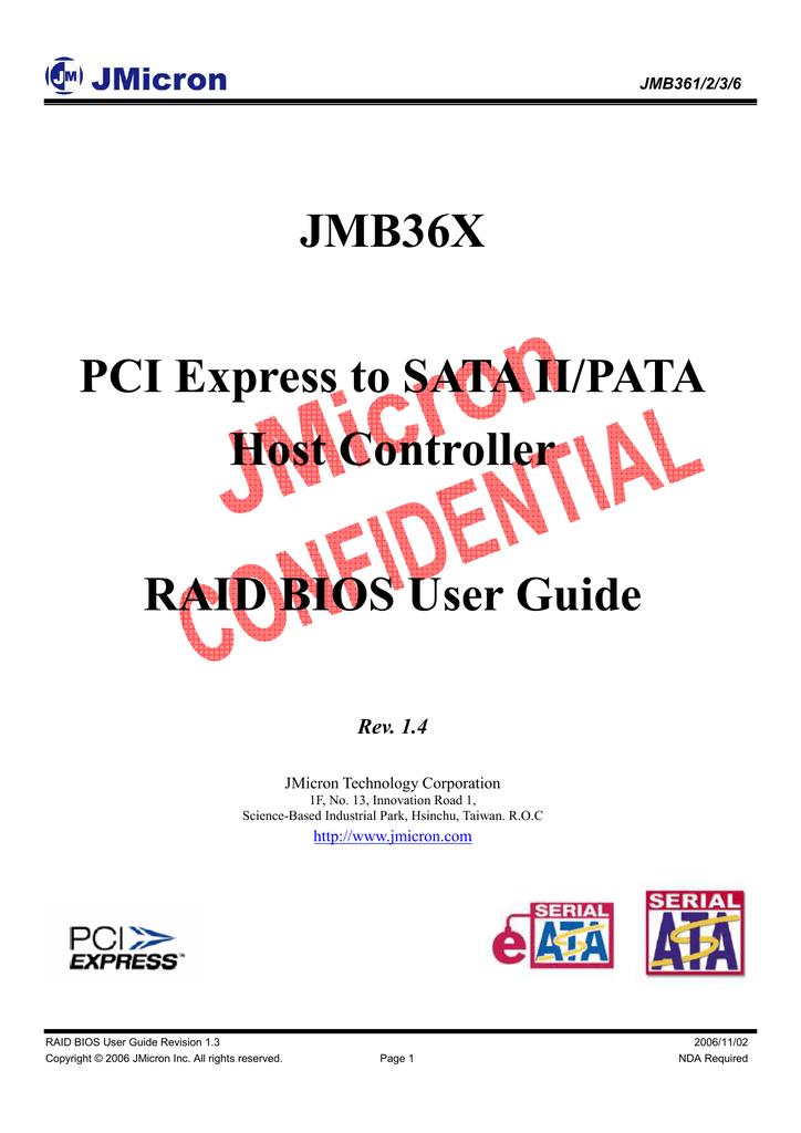 JMICRON JMB361 PATA AND SATA CONTROLLER DRIVER FOR WINDOWS 10