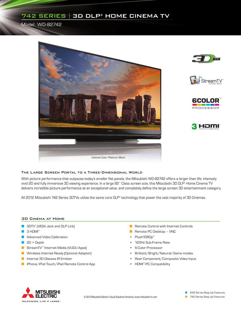 742 series | 3d dlp® home cinema tv | manualzz com