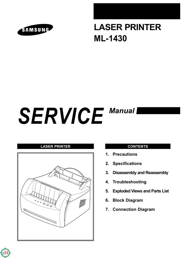 LASER PRINTER ML-1430   manualzz com