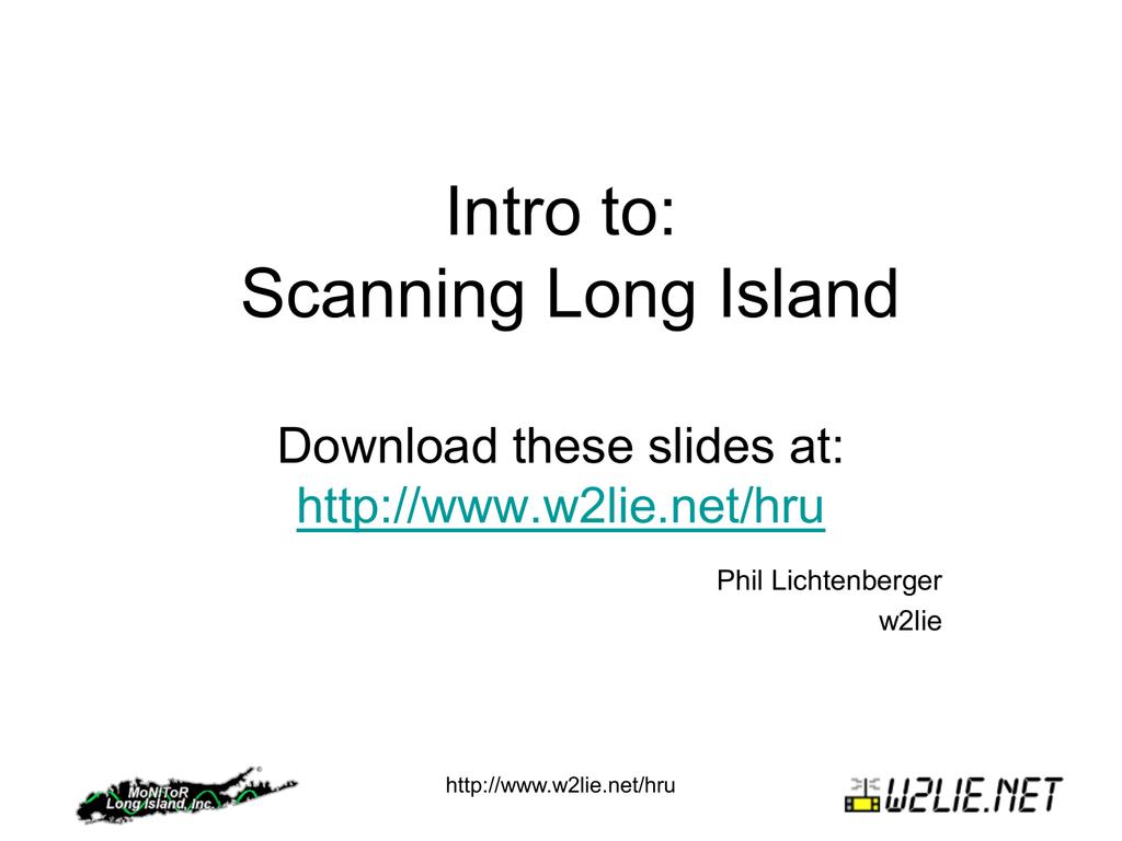 Intro to: Scanning Long Island | manualzz com