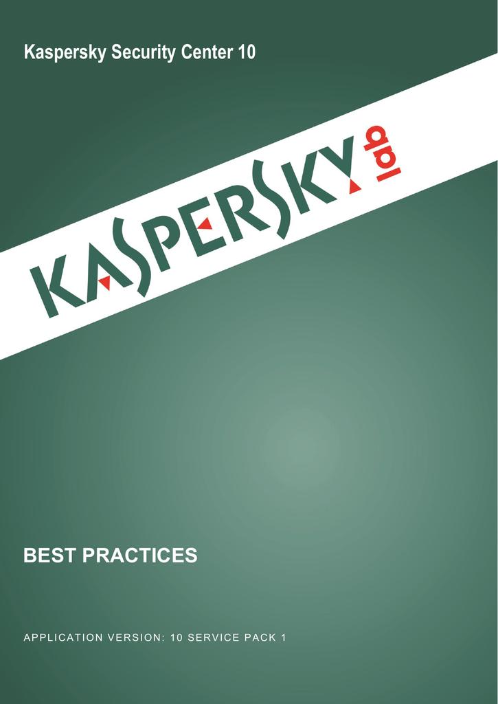 Kaspersky Security Center 10 | manualzz com