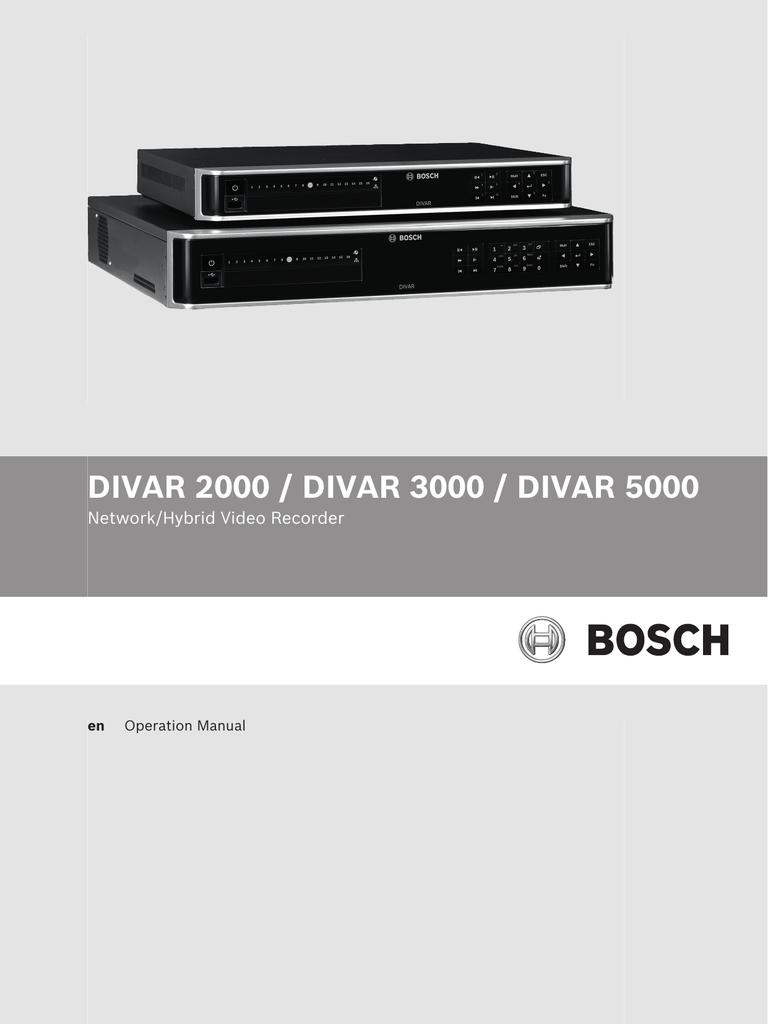 Operation Manual - Bosch Security Systems | manualzz com