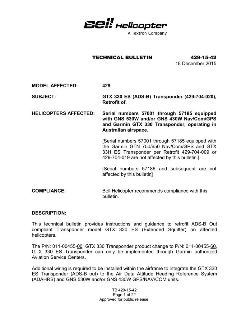 TECHNICAL BULLETIN -xx- | manualzz.com on