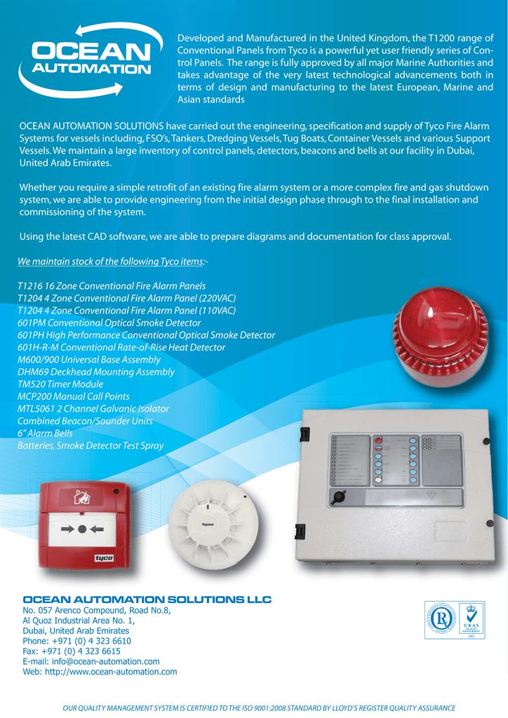 Fire Alarm Systems - Tyco / Thorn Security   manualzz com