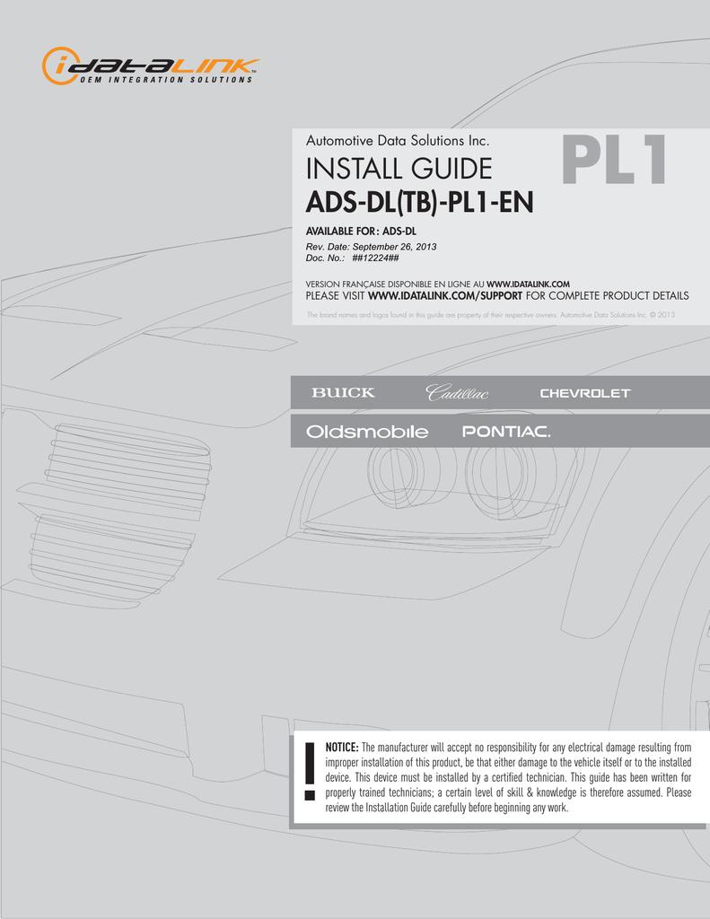 install guide ADS DLTB PL40 EN   Manualzz