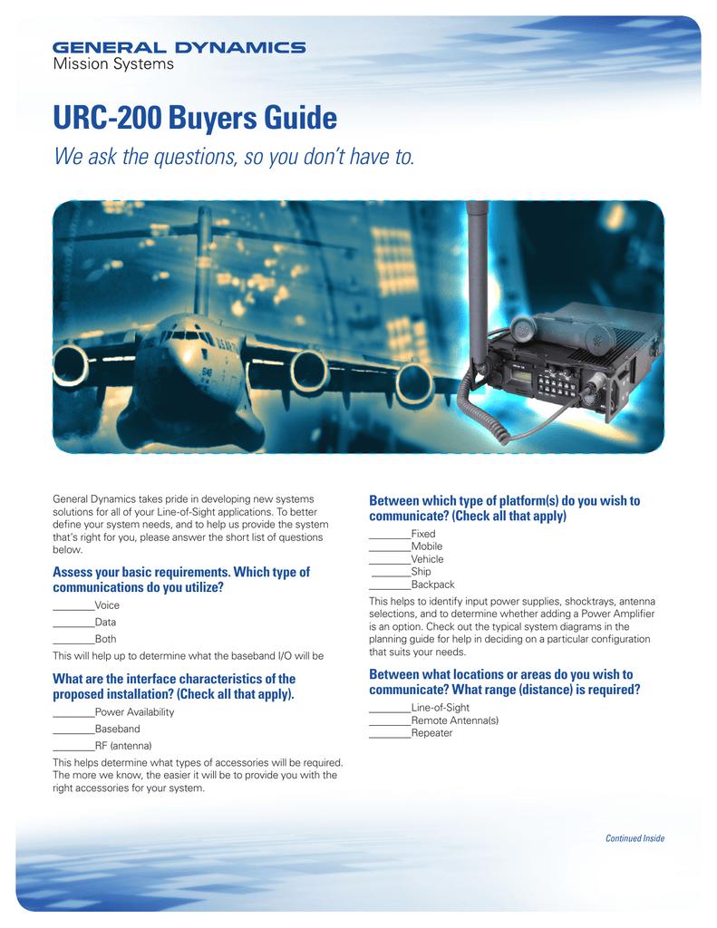 URC-200 Buyers Guide | manualzz com