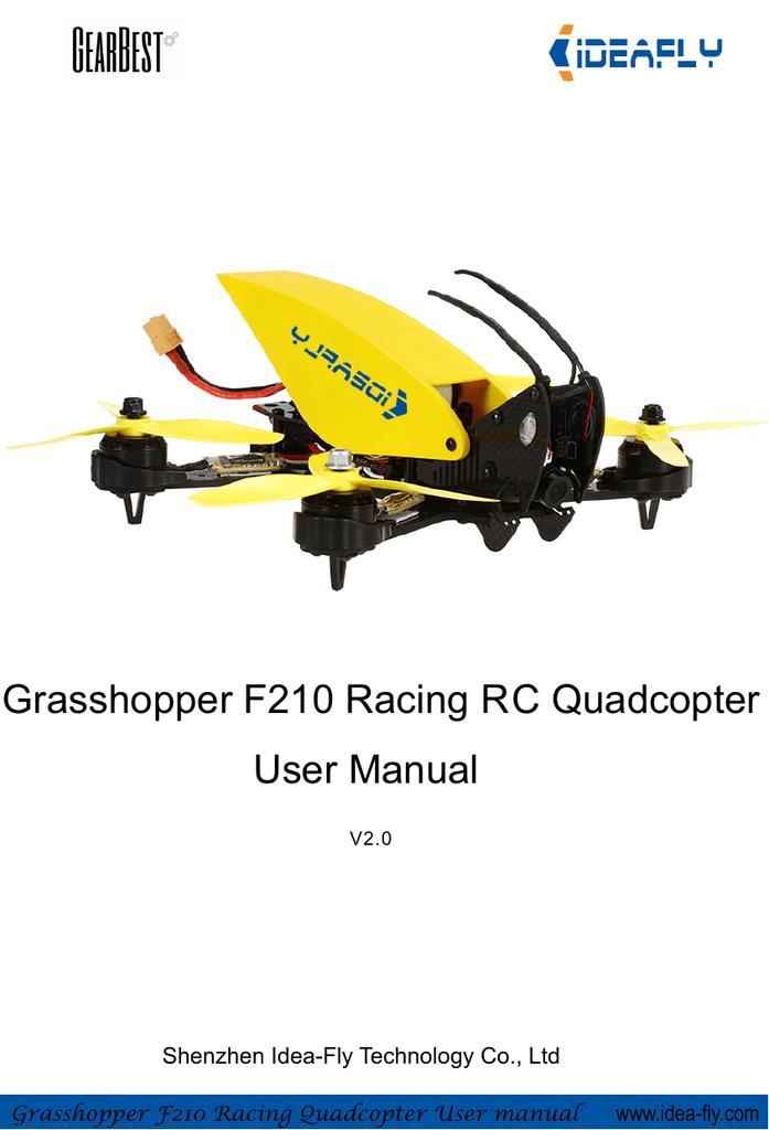Ideafly F210 Racing Quadcopter User Manual V2 0 | manualzz com