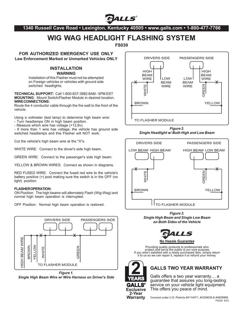 wig wag headlight flashing system | manualzz.com Galls Fs Wiring Diagram on