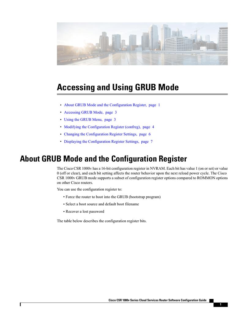 Accessing and Using GRUB Mode   manualzz com