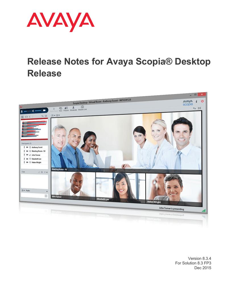 Release Notes for Avaya Scopia® Desktop Release | manualzz com