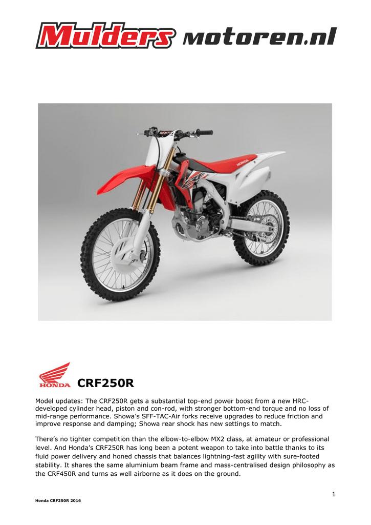 CRF250R - Mulders Motoren | manualzz com