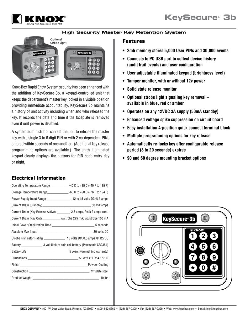keysecure� 3b manualzz com Fire Department Lock Box Key