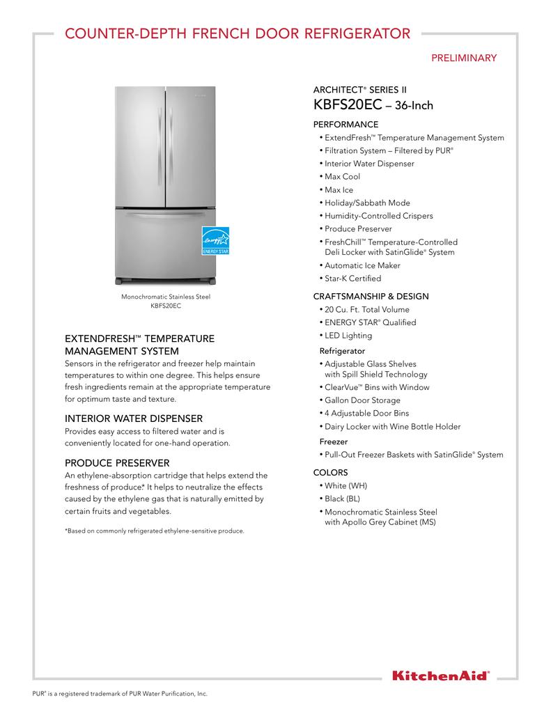 Kitchenaid Sabbath Mode Refrigerator