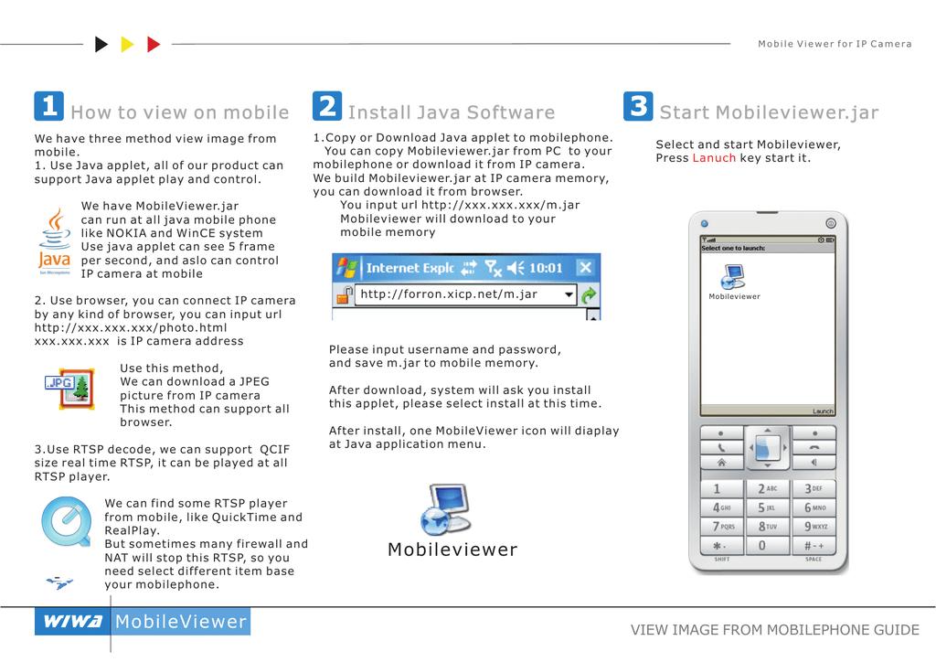 3 Start Mobileviewer jar 2 Install Java Software