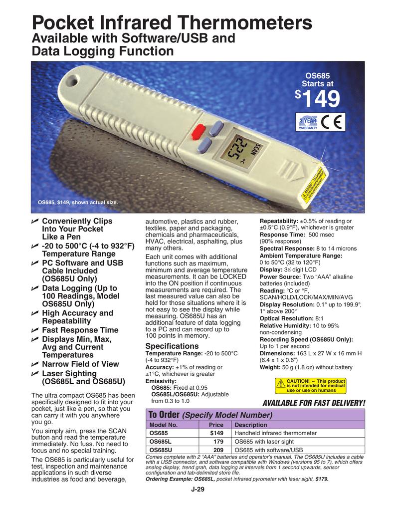 Pocket Infrared Thermometer | manualzz com