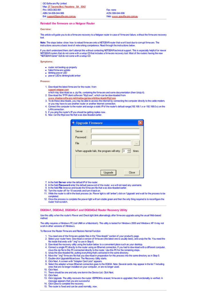 dg834v2 firmware