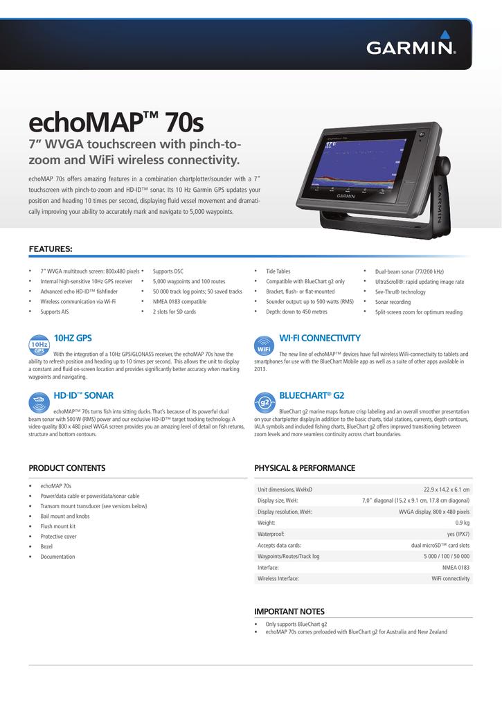 echoMAP™ 70s   manualzz.com on garmin transom mount transducer, garmin depth transducer, garmin marine, garmin 740s, garmin 70 dv, garmin watch, garmin fishfinder gps combo,