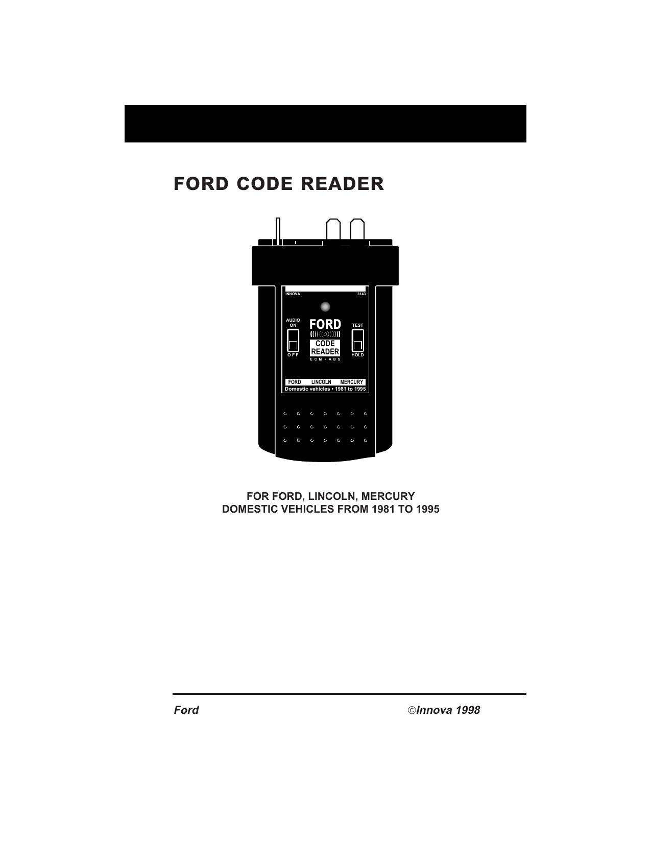 ford code reader | manualzz com
