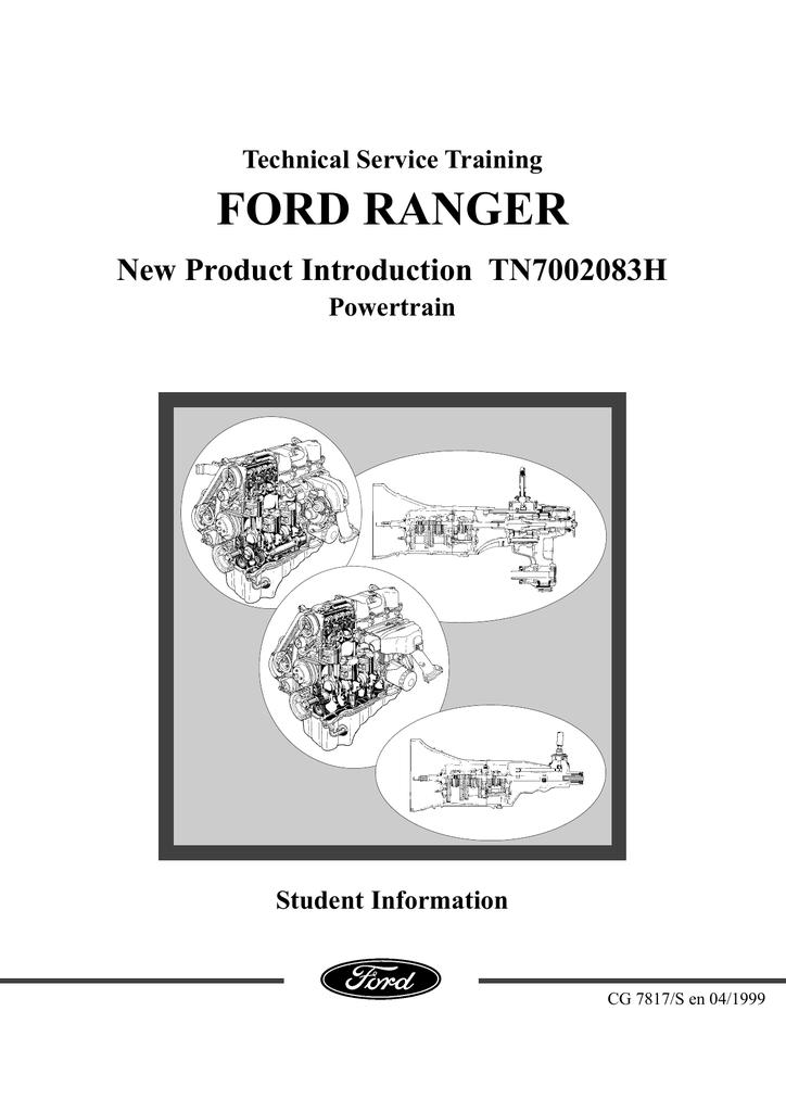 Ford Ranger Wl Engine Workshop Manual