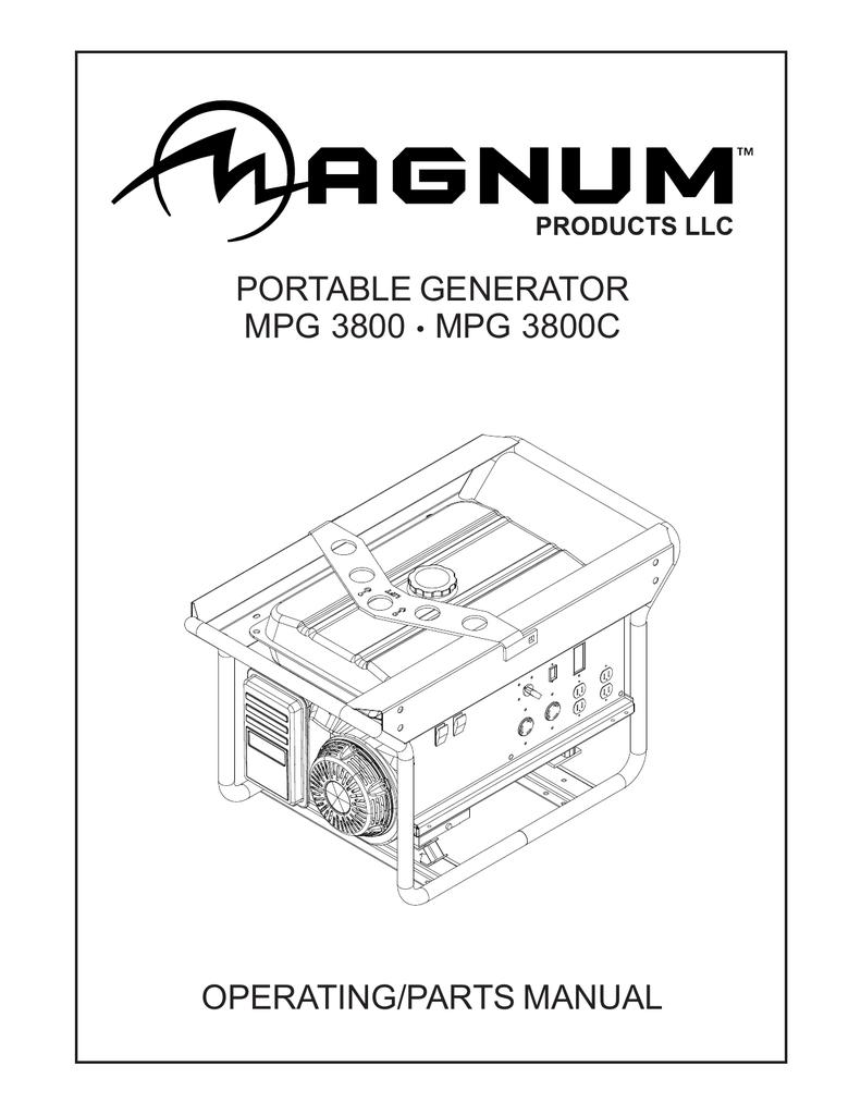 Portable Generator Mpg 3800 3800c Operating Parts Manual 26416electricpanelpanelwiringjpg