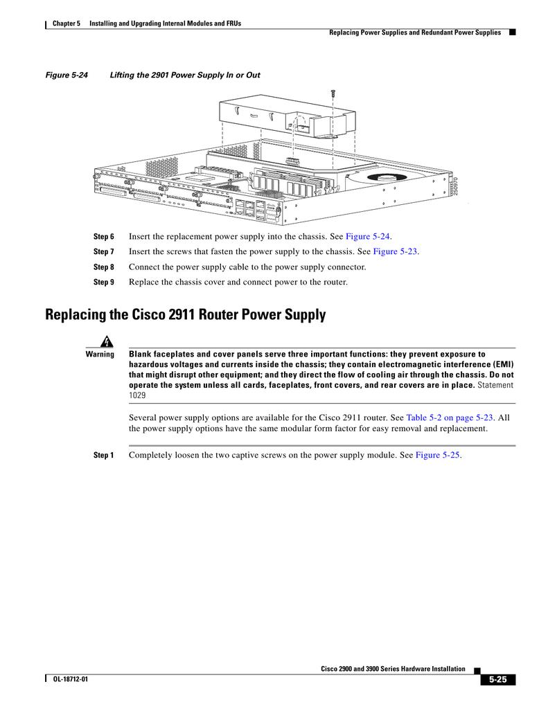 Cisco 2911 Installation Guide