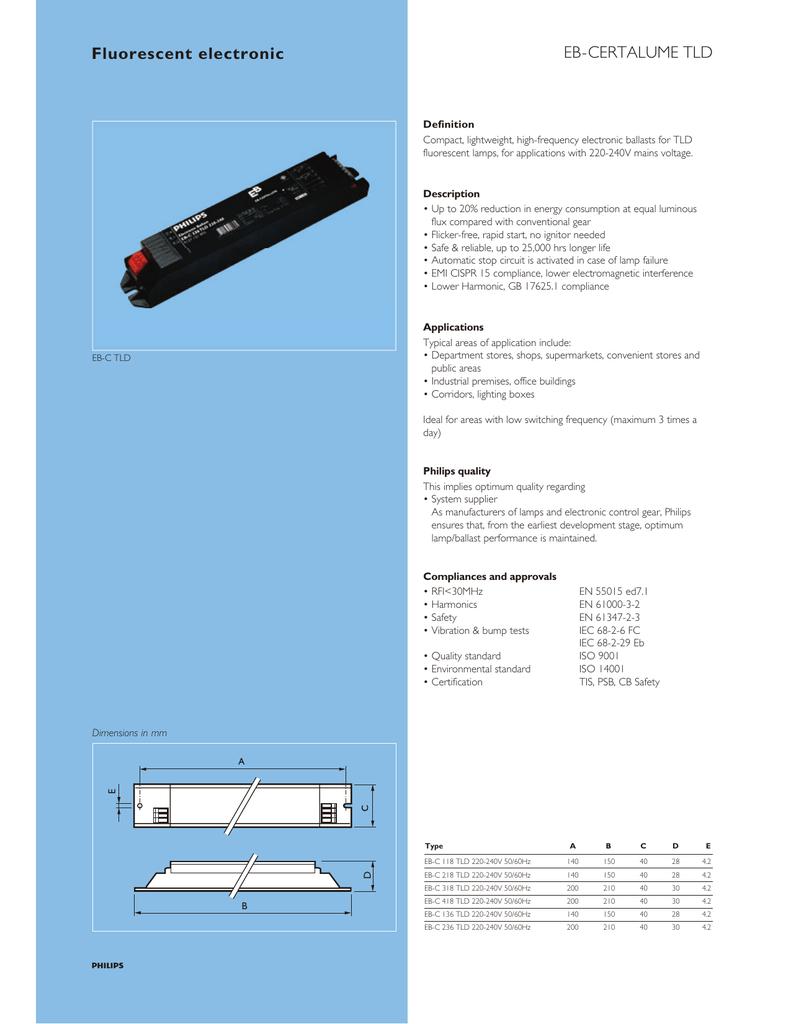 240v ballast wiring diagram fluorescent electronic eb certalume tld manualzz  fluorescent electronic eb certalume tld